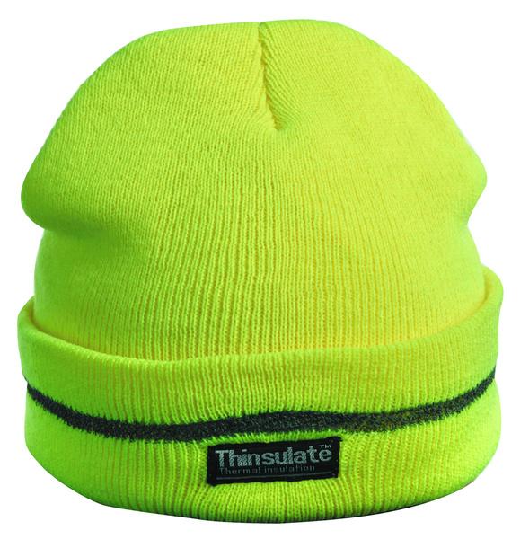 Pletená čepice TURIA žlutá reflexní  37e6c29678