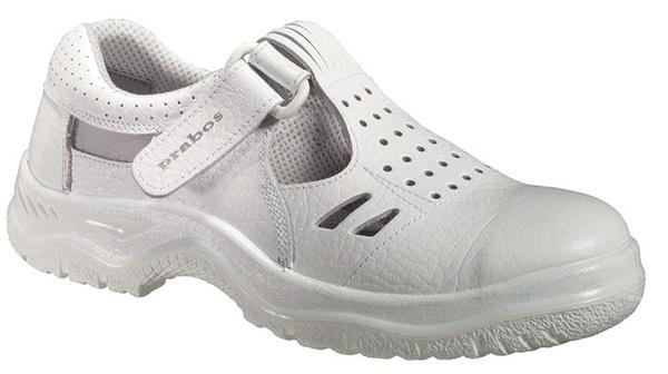 Bílý pracovní sandál PRABOS RICHARD  7e022434a3f
